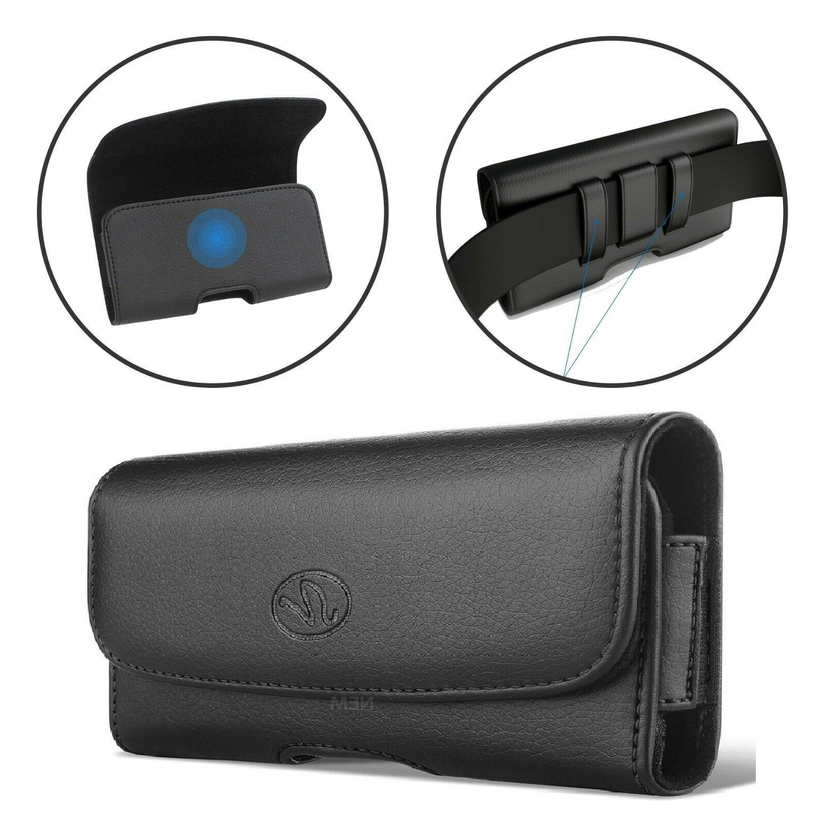 xl cell phone belt clip leather holder