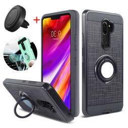 For LG G7 ThinQ Case Hybrid Armor Ring Holder Stand Cover +