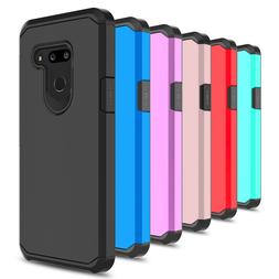 For LG G7 ThinQ Case Hybrid Shockproof Dual Layer Rugged Arm