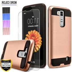 For LG K7 Phone Case, Shockproof Cover+Screen Protector+Styl