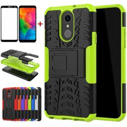 For LG Q7/Q7 Plus Case Shockproof Armor Stand Rugged Case Co