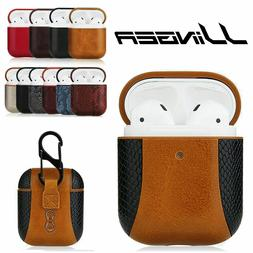 Luxury AirPods Case Leather Protective Cover Skin For Apple