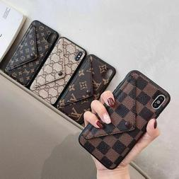 Luxury Leather Flip Wallet Stand Phone Case Cover for iPhone