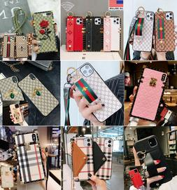 Luxury Pattern Hand Strap Phone Case for iPhone 11 Pro MAX X