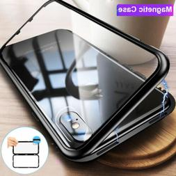Magnetic Absorption Case For iPhone Xs X 8 6s 7+ Case Temper