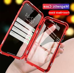 Magnetic Adsorption Double Side Glass Case Cover Fits iPhone