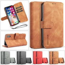 Magnetic Leather Wallet Case Cover Card Slot Stand For iPhon