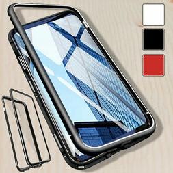 Magnetic Phone Case Hard Glass Cover For Samsung S7 Edge S8