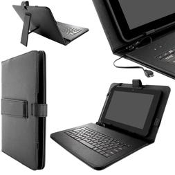 Universal Tablet Keyboard Case Folio Cover Micro USB Cable F
