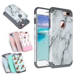 ULAK Marble Case for Apple iPhone 8/7/6S/6 Plus Rubber Prote
