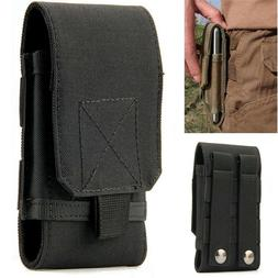 Mens Nylon Belt Loop Cell Phone Pouch Holster Waist Bag Purs