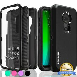 Moto G7 / PLUS Case COVRWAE Dual 3 layer Armor Cover Screen