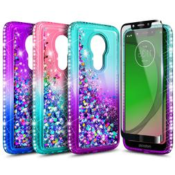 For Motorola Moto g7 Play/g7 Optimo Case Liquid Glitter Cove