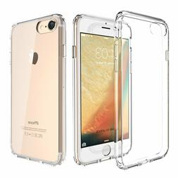 New For Apple iPhone 8 7 Hard Clear Case Bumper TPU Protecti