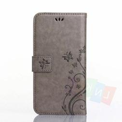 Patterned Flip Leather Wallet Stand Card Case Cover For iPho