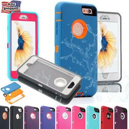 For iPhone 7 8 6 Plus 6S Case Hybrid Full Shockproof Heavy D