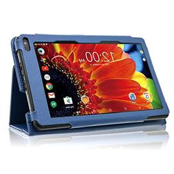 RCA Voyager 7 inch Tablet Case Folio Cover Protector Blue PU