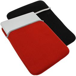 AZ-Cover 7-Inch Red Black Soft Neoprene Reversible Sleeve Ca