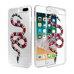 New Fashion Red Snake Case : Luxury Transparent Durable Desi