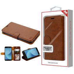 For Samsung Galaxy J7 2018 Leather Flip Wallet Card Slot Mag