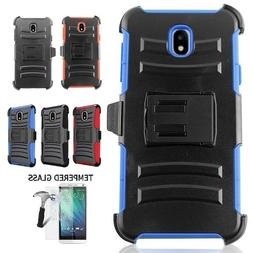 Samsung Galaxy J7 Crown Holster Case Cover and Swivel Belt C