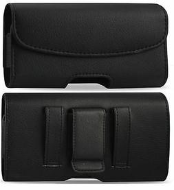 For Samsung Galaxy S 7 Active Leather belt clip loop Pouch H