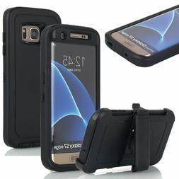For Samsung Galaxy S7 Case Cover with Screen w(Belt Clip Fit