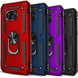 For Samsung Galaxy S7 Case, Ring Kickstand HolderCover+ Temp