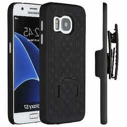 Samsung Galaxy S7 Case, Shell Holster Combo Case w/ Kick-Sta