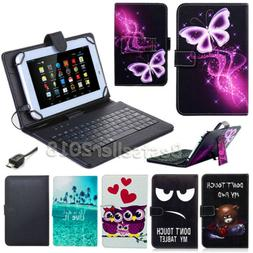 "For Samsung Galaxy Tab A A6 7"" 10.1"" 8"" 9.7 Tablets Leather"