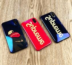 Supreme Fashion Thin Soft Case For iPhone X 6 7 8 Plus Silic