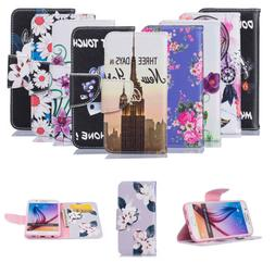 Synthetic Leather Flip Patterned Wallet Case Cover Stand For