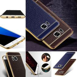 Synthetic Leather Soft Phone Case Cover For Samsung S8 S7 J7
