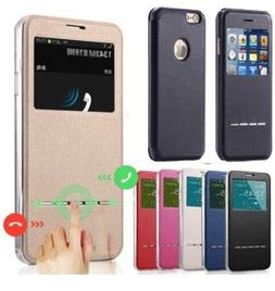 Synthetic Leather Wallet View Window Case Cover For iPhone X