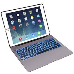 NOVT Tablet Bluetooth Keyboard Case Compatible with Apple iP