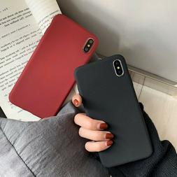 Ultra Slim Fit Protective Matte Back Case Cover For iPhone X