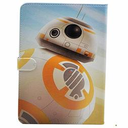 Unique BB-8 Droid Pattern Leather Flip Stand Case Cover For