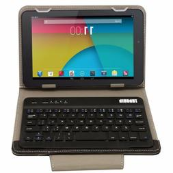 Universal Bluetooth Keyboard PU Leather Stand Case Cover For