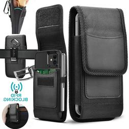 Vertical Cell Phone Holster Pouch with Belt Loop Wallet Case