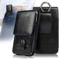 Vertical Leather Belt Case Clip Holster Phone Pouch Carrying