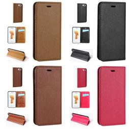 Vintage Synthetic Leather Flip Card Wallet Cover Case For iP